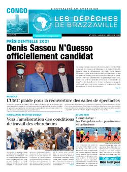 Les Dépêches de Brazzaville : Édition brazzaville du 25 janvier 2021