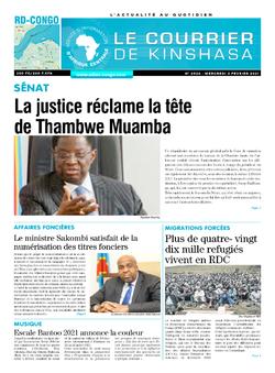 Les Dépêches de Brazzaville : Édition brazzaville du 03 février 2021