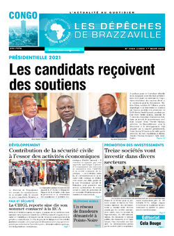 Les Dépêches de Brazzaville : Édition brazzaville du 01 mars 2021