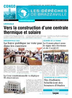 Les Dépêches de Brazzaville : Édition brazzaville du 02 mars 2021