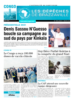 Les Dépêches de Brazzaville : Édition brazzaville du 11 mars 2021