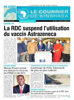 Les Dépêches de Brazzaville : Édition brazzaville du 15 mars 2021