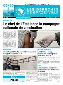Les Dépêches de Brazzaville : Édition brazzaville du 25 mars 2021