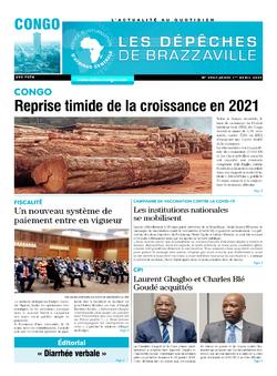 Les Dépêches de Brazzaville : Édition brazzaville du 01 avril 2021