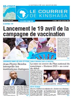 Les Dépêches de Brazzaville : Édition brazzaville du 15 avril 2021