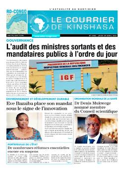 Les Dépêches de Brazzaville : Édition brazzaville du 29 avril 2021