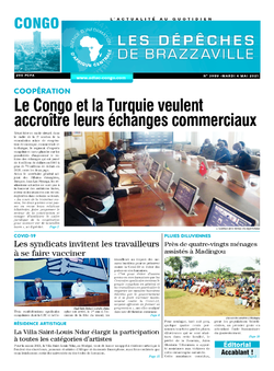Les Dépêches de Brazzaville : Édition brazzaville du 04 mai 2021