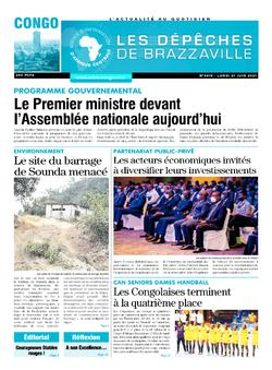 Les Dépêches de Brazzaville : Édition brazzaville du 21 juin 2021
