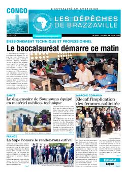 Les Dépêches de Brazzaville : Édition brazzaville du 29 juin 2021