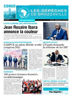 Les Dépêches de Brazzaville : Édition brazzaville du 30 juin 2021