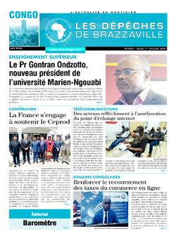 Les Dépêches de Brazzaville : Édition brazzaville du 01 juillet 2021