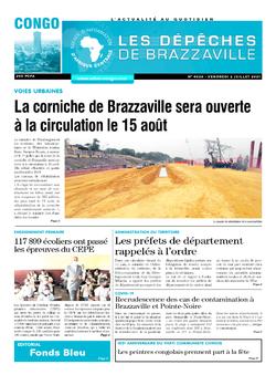 Les Dépêches de Brazzaville : Édition brazzaville du 02 juillet 2021