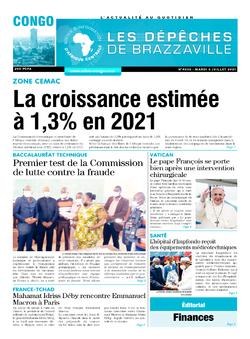 Les Dépêches de Brazzaville : Édition brazzaville du 06 juillet 2021