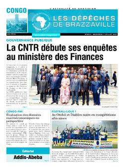 Les Dépêches de Brazzaville : Édition brazzaville du 07 juillet 2021