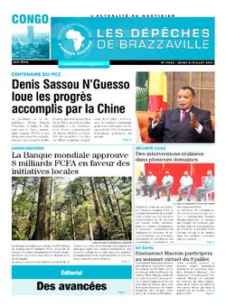 Les Dépêches de Brazzaville : Édition brazzaville du 08 juillet 2021