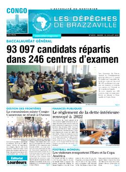 Les Dépêches de Brazzaville : Édition brazzaville du 13 juillet 2021
