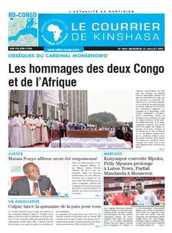 Les Dépêches de Brazzaville : Édition brazzaville du 21 juillet 2021