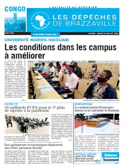 Les Dépêches de Brazzaville : Édition brazzaville du 22 juillet 2021