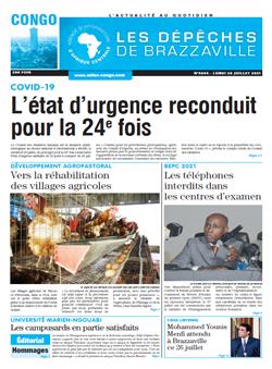 Les Dépêches de Brazzaville : Édition brazzaville du 26 juillet 2021