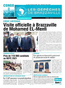 Les Dépêches de Brazzaville : Édition brazzaville du 27 juillet 2021