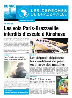Les Dépêches de Brazzaville : Édition brazzaville du 29 juillet 2021