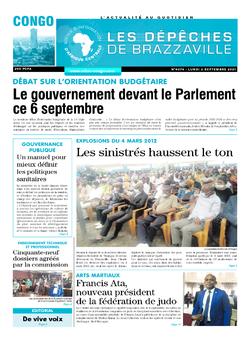 Les Dépêches de Brazzaville : Édition brazzaville du 06 septembre 2021