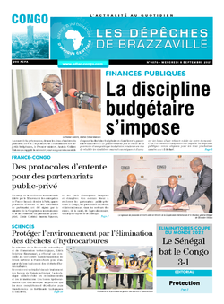 Les Dépêches de Brazzaville : Édition brazzaville du 08 septembre 2021