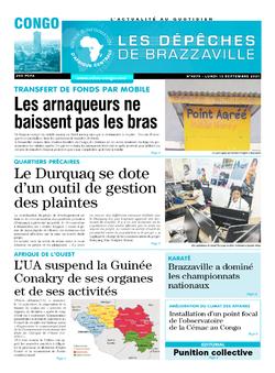 Les Dépêches de Brazzaville : Édition brazzaville du 13 septembre 2021