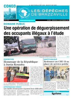 Les Dépêches de Brazzaville : Édition brazzaville du 15 septembre 2021