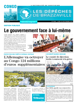 Les Dépêches de Brazzaville : Édition brazzaville du 20 septembre 2021