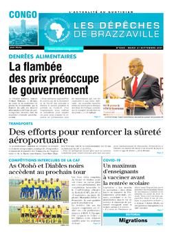 Les Dépêches de Brazzaville : Édition brazzaville du 21 septembre 2021