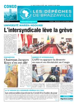 Les Dépêches de Brazzaville : Édition brazzaville du 22 septembre 2021