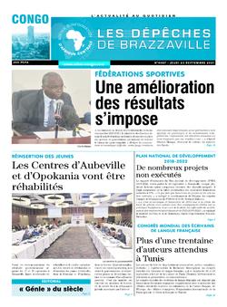 Les Dépêches de Brazzaville : Édition brazzaville du 23 septembre 2021