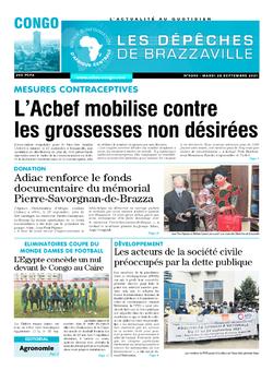Les Dépêches de Brazzaville : Édition brazzaville du 28 septembre 2021