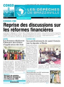 Les Dépêches de Brazzaville : Édition brazzaville du 30 septembre 2021