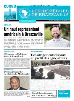 Les Dépêches de Brazzaville : Édition brazzaville du 01 octobre 2021