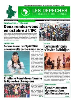 Les Dépêches de Brazzaville : Édition du 6e jour du 02 octobre 2021
