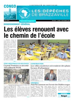 Les Dépêches de Brazzaville : Édition brazzaville du 04 octobre 2021