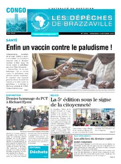 Les Dépêches de Brazzaville : Édition brazzaville du 08 octobre 2021