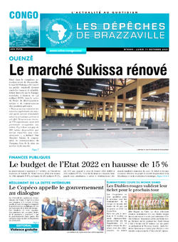 Les Dépêches de Brazzaville : Édition brazzaville du 11 octobre 2021