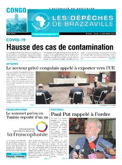 Les Dépêches de Brazzaville : Édition brazzaville du 14 octobre 2021