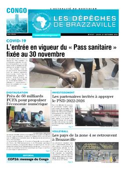 Les Dépêches de Brazzaville : Édition brazzaville du 21 octobre 2021