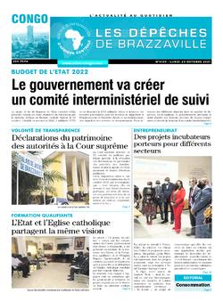 Les Dépêches de Brazzaville : Édition brazzaville du 25 octobre 2021